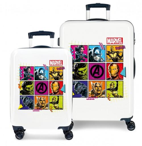 4371921 juego maletas cabina y mediana avengers comic