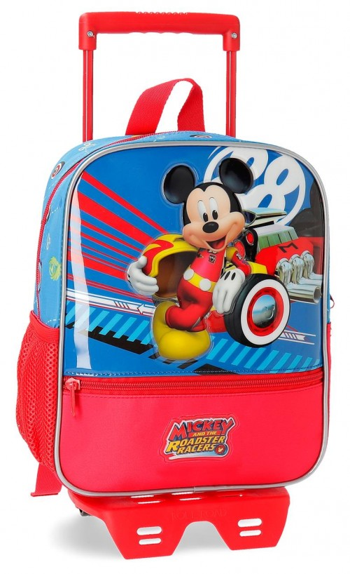 23621N1   mochila 28 cm con carro world mickey