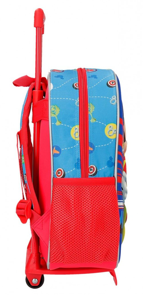 23622N1 mochila 33 cm con carro world mickey lateral