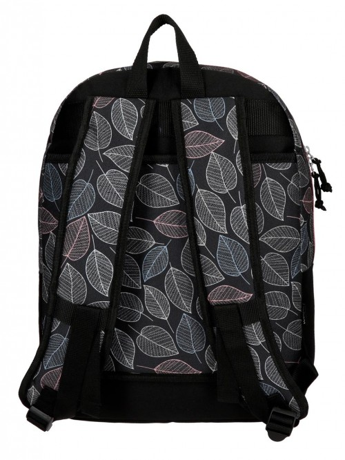 3642361 mochila 42 cm adaptable movom leaves coral trasera