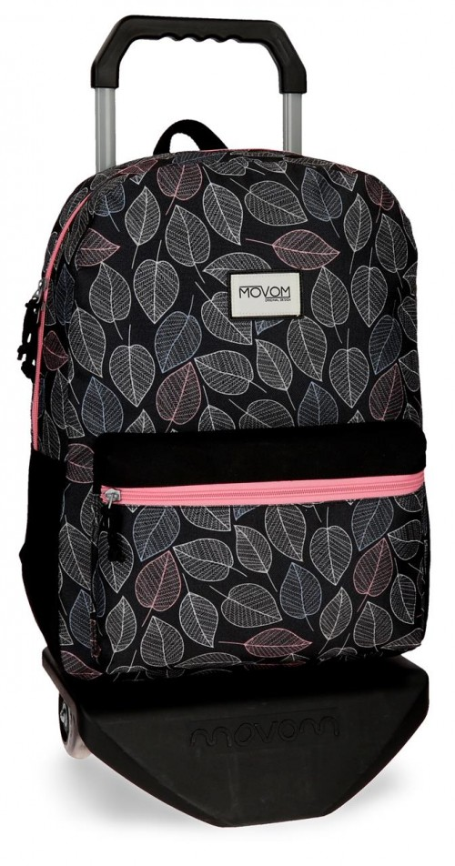 36423N1 mochila 42 cm con carro adaptable movom leaves coral