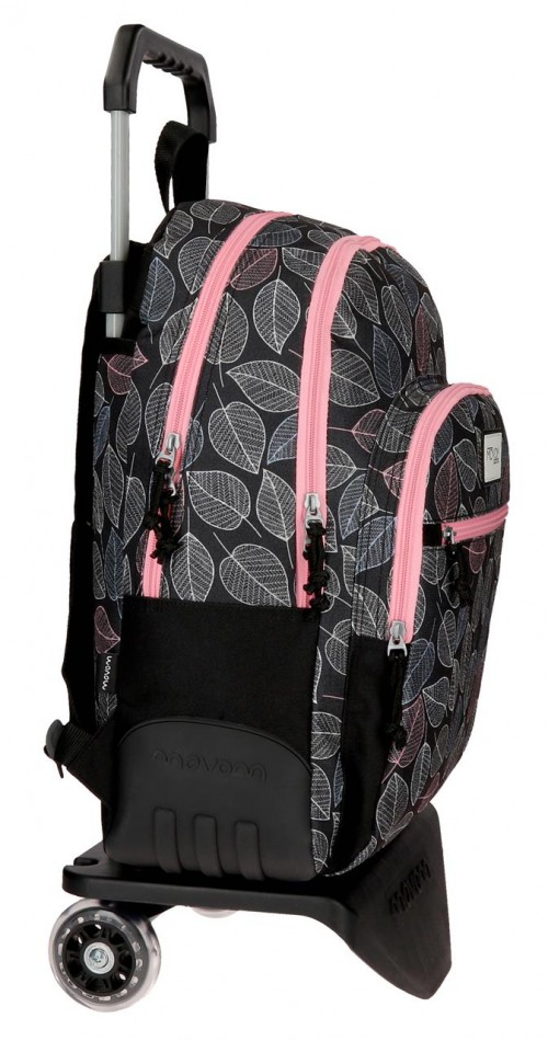 36426N1 mochila 44 cm . con carro movom leaves  coral lateral