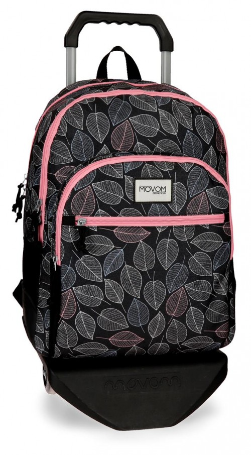 36426N1 mochila 44 cm doble c. con carro movom leaves  coral