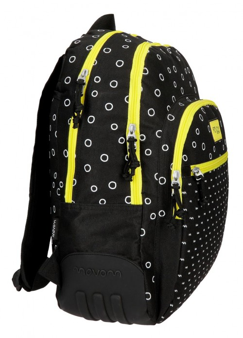 3652662 mochila 44 cm doble c movom bubbles amarillo lateral