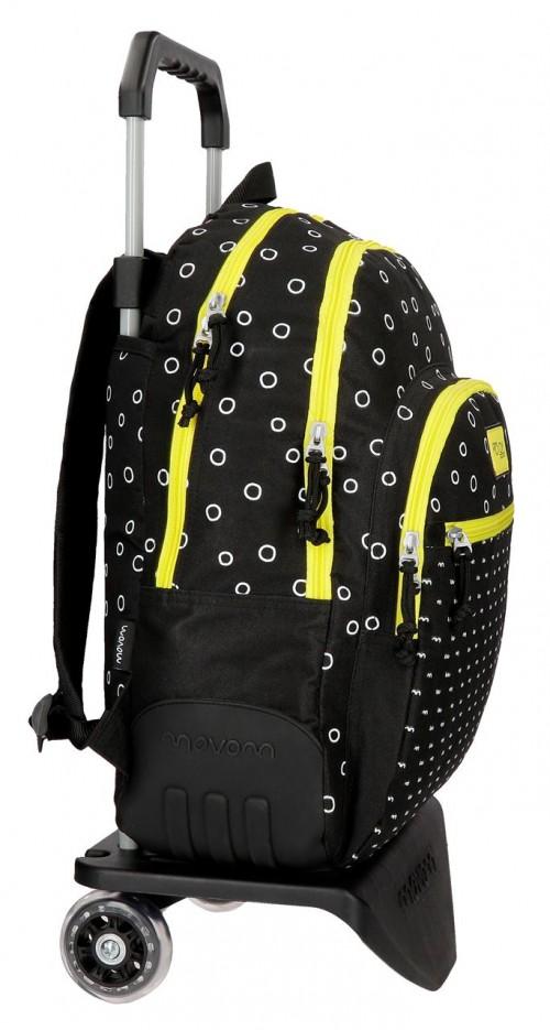 36526N2 mochila 44 cm con carro movom bubbles amarillo lateral