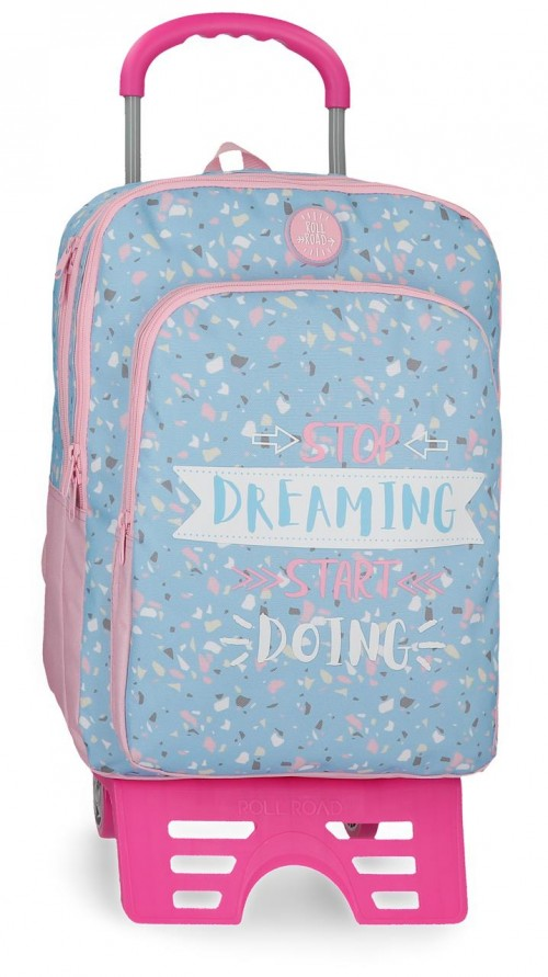 45524N1 mochila 42 cm doble c. con carro roll road dreaming