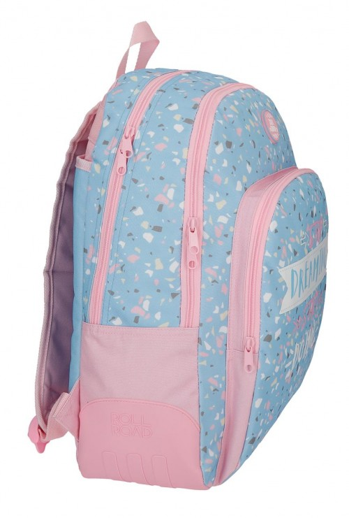 4552661 mochila 44 cm doble c. roll road dreaming lateral