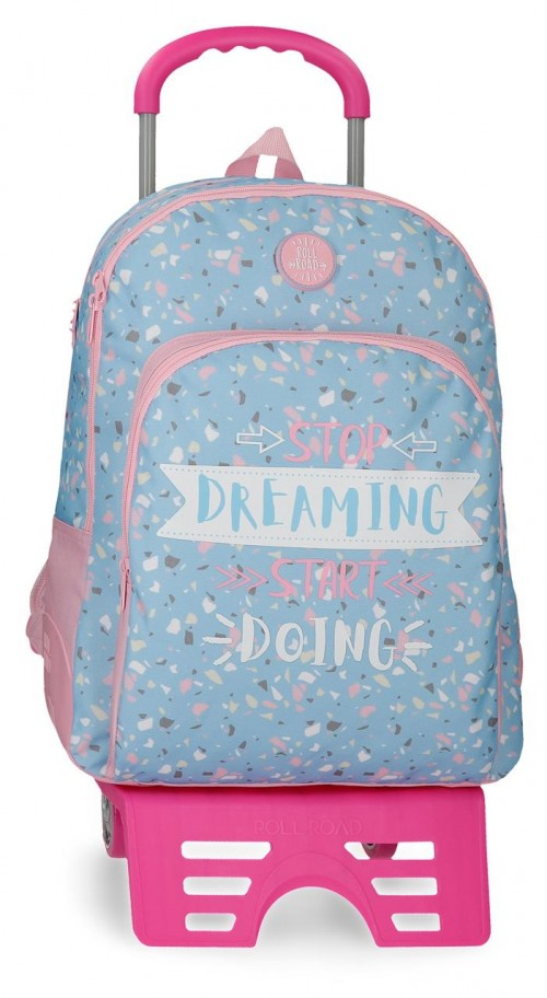 45526N1  mochila 44 cm doble c. con carro roll road dreaming
