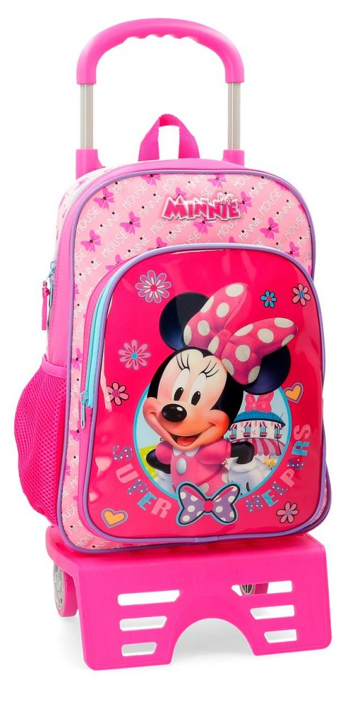 45723N1 mochila 38 cm con carro minnie super helpers