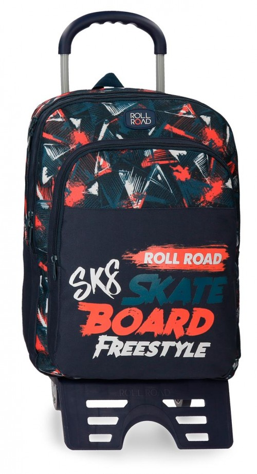 45924N1 mochila 42 cm doble  con carro roll road freestyle