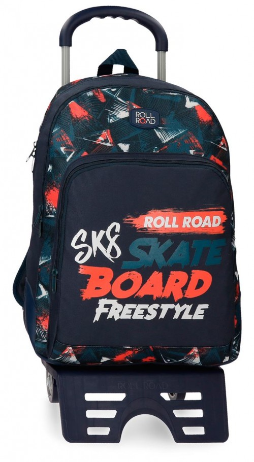 45926N1 45926N1 mochila 44 cm con carro doble c.  roll road freestyle