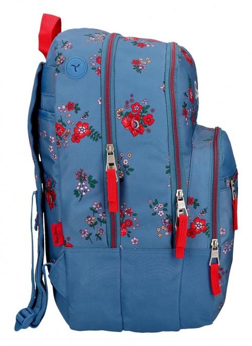 6382461 mochila doble adaptable 44 cm pepe jeans pam
