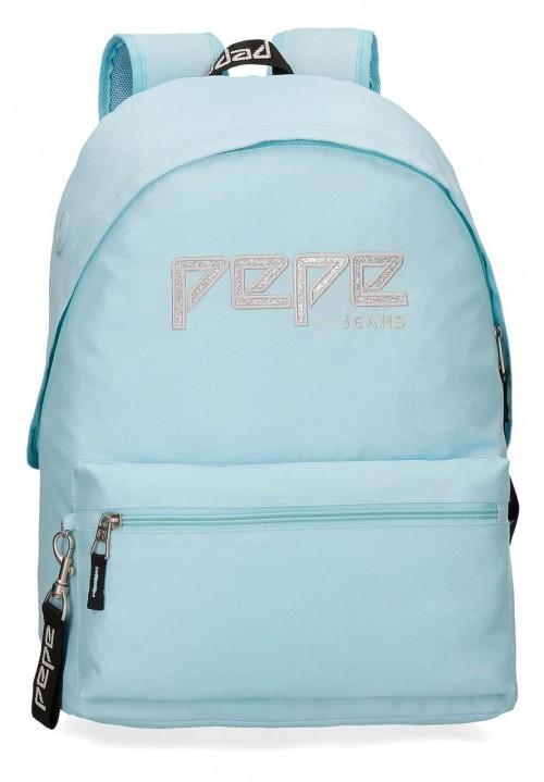 6392363 mochila 42 cm adaptable pepe jeans uma azul