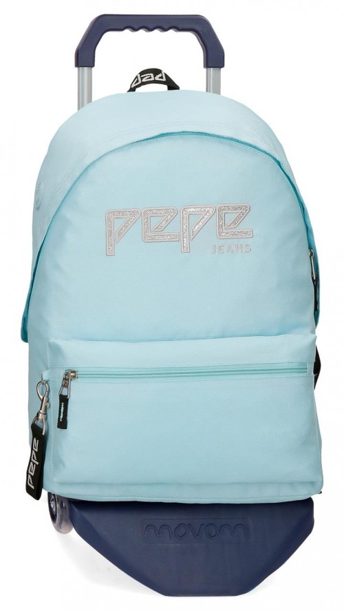 63923N3 mochila 42 cm con carro pepe jeans uma azul