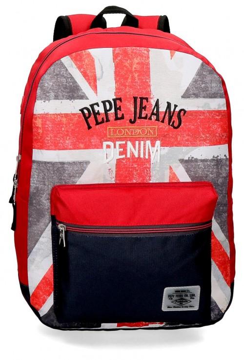 6422361 mochila 44 cm adaptable pepe jeans calvin