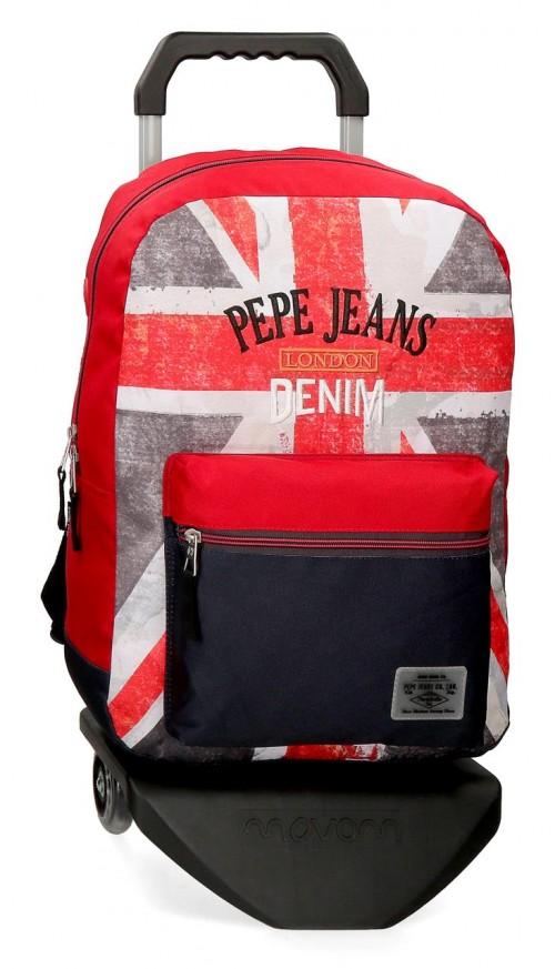 64223N1  mochila 44 cm  con carro pepe jeans calvin