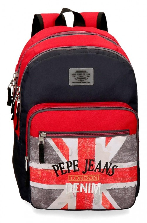 6422461 mochila 46 cm adaptable doble c. pepe jeans calvin