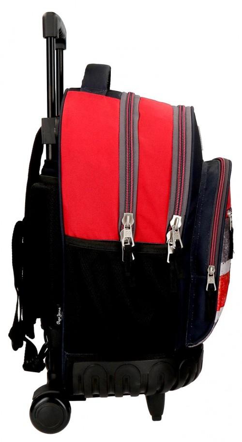 6422961 mochila compacta reforzada pepe jeans calvin lateral