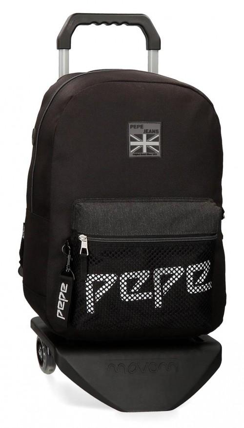 64323N1 mochila 44 cm adaptable con carro pepe jeans ren