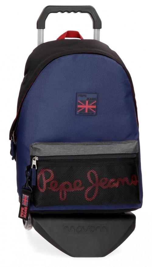 64423N1 mochila 44 cm con carro pepe jeans hammer
