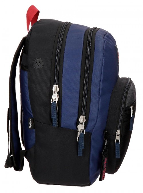 6442461 mochila 46 cm doble c. pepe jeans hammer lateral