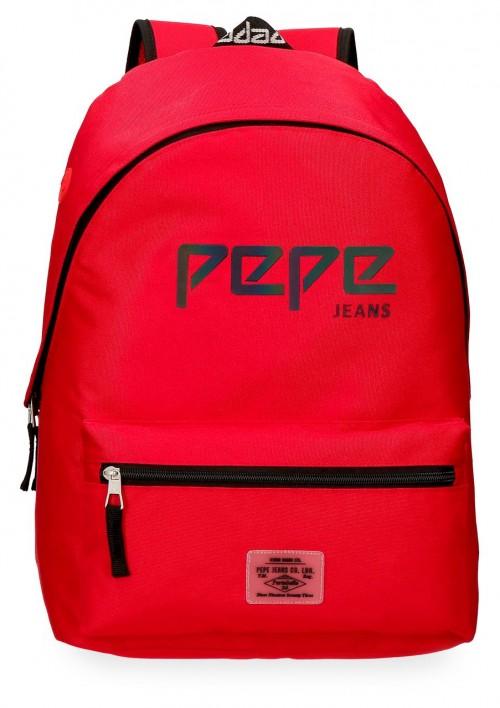 6452363 mochila 42 cm adaptable pepe jeans osset rojo