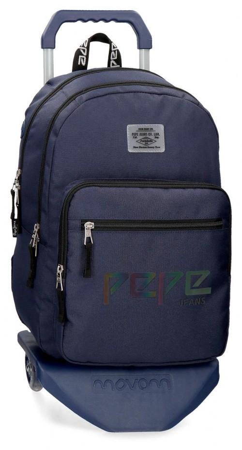 64524N2 mochila 46 cm doble c. con carro pepe jeans osset marino