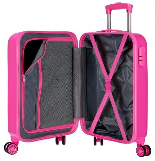 6521161 maleta cabina pepe jeans world fuxia interior