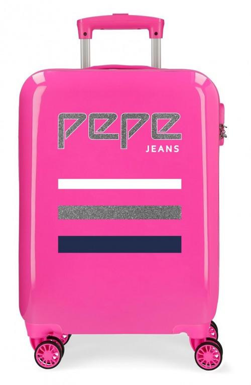 6521161 maleta cabina pepe jeans world fuxia