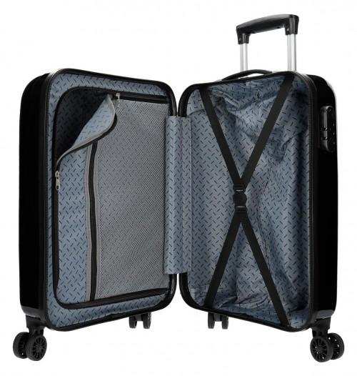6523161 maleta cabina pepe jeans world negro interior