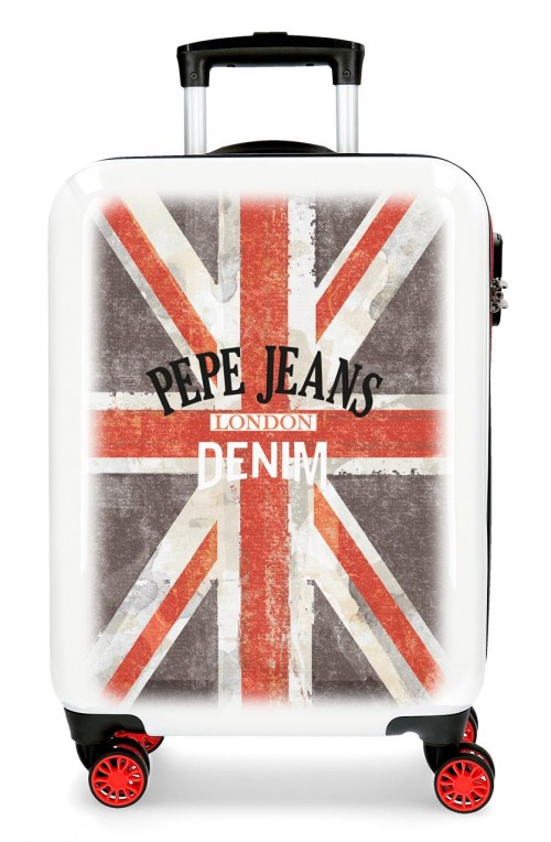 6524161 maleta cabina 4 ruedas pepe jeans world denim