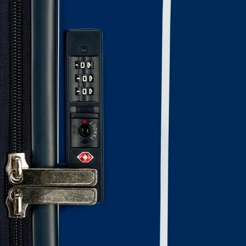 6534161 maleta cabina pepe jeans taking off azul cerradura tsa