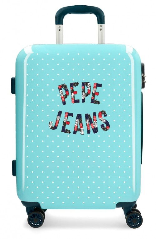 6557161 maleta de cabina pepe jeans emory turquesa