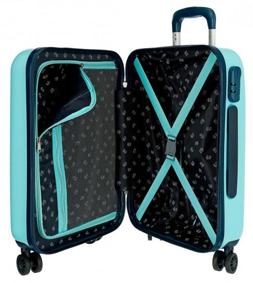 6558161 maleta de cabina pepe jeans emory turquesa interior