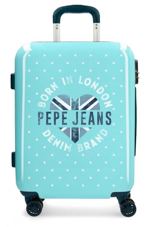6558161 maleta de cabina pepe jeans emory turquesa