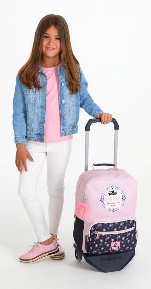 92223n1 mochila 42 cm con carro enso daisy detalle