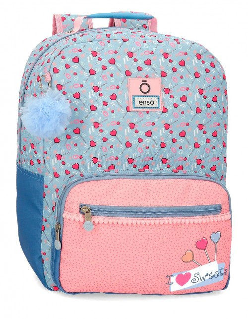 9232361 mochila 42 cm  adaptable enso love sweets