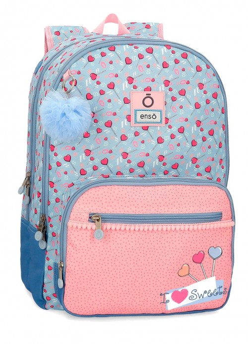 9232461 mochila 46 cm doble C. adaptable enso i love sweets
