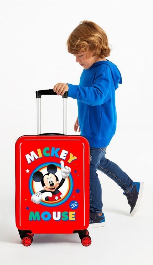 2031722 maleta cabina circle mickey rojo  detalle