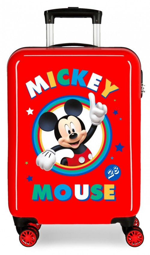 2031722 maleta cabina circle mickey rojo