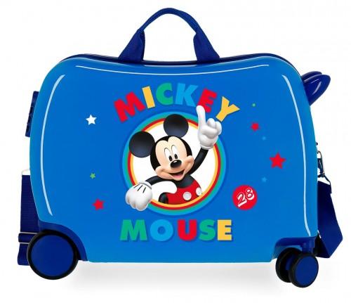 2039821 maleta infantil correpasillos circle mickey azul