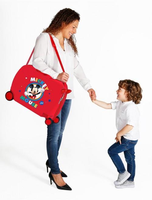 2039822 maleta infantil correpasillos circle mickey rojo detalle