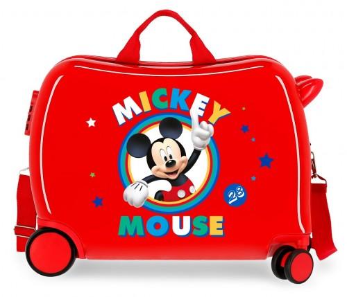 2039822 maleta infantil correpasillos circle mickey rojo