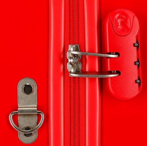 2039822 maleta infantil correpasillos circle mickey rojo cerradura combinación