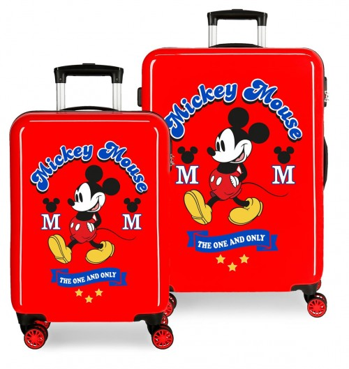 3071923 juego maletas cabina y mediana have a good day mickey