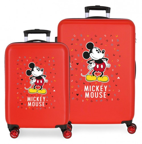 3071925 juego maletas cabina y mediana have a good day mickey