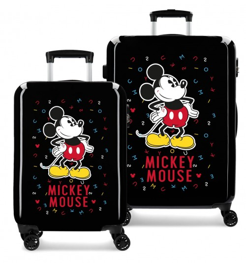 3071926 juego maletas cabina y mediana have a good day mickey