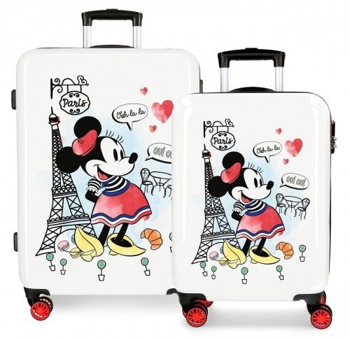 3151929 Juego Maletas Cabina y Mediana minnie around the world paris
