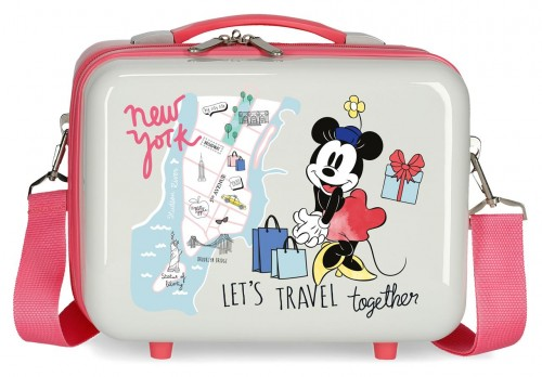 3153923 neceser adaptable a trolley abs minnie around the world new york