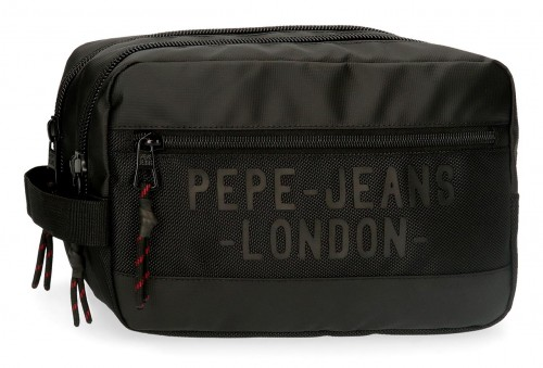 7164421 neceser doble pepe jeans bromley negro